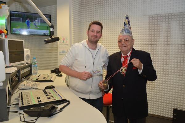 Herbert Fostel vom Kostheimer Carneval Verein bei Radio Antenne Mainz FM 2015 auf Sendung