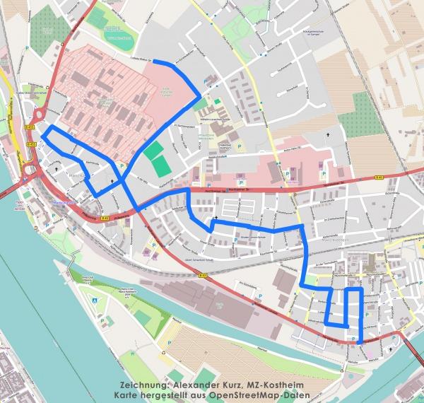 Kastel_Kostheim_Map_Kastel_Kostheim_Fastnachtsumzug_Umzug-Fastnacht_2015_Weg_Strecke